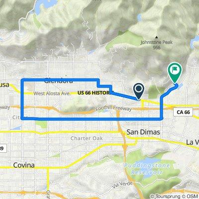 265 W Foothill Blvd, San Dimas to 2022 Terrebonne Ave, San Dimas