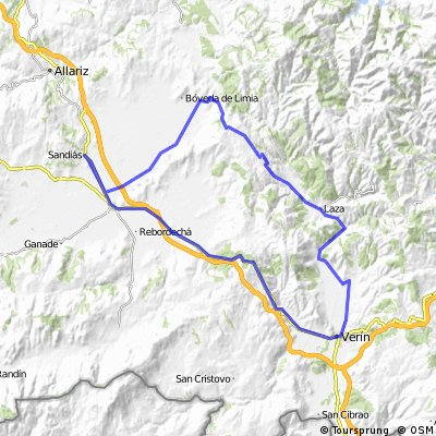 Sandias- Xinzo- Verin- Laza- Albergueria- Villar de Barrio- Xinzo- Sandias