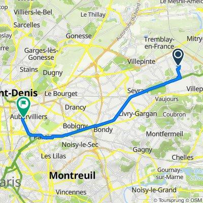 De 11 Rue de Richelieu, Mitry-Mory à 27 Rue Heurtault, Aubervilliers