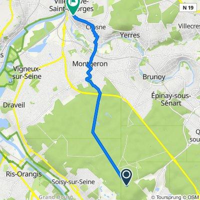 De Carrefour de Marigny, Étiolles à 14 Allée Beauséjour, Villeneuve-Saint-Georges