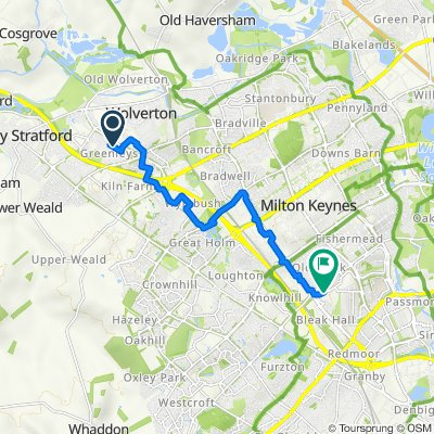17 Herdman Close, Milton Keynes to 10 Moorgate, Milton Keynes