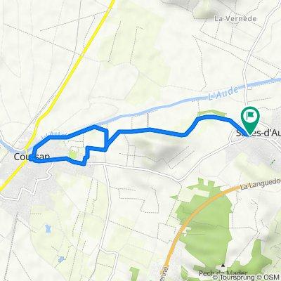 Itinéraire à partir de Avenue de Coursan 24122, Salles-d'Aude