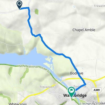 Keiro Lane to , Wadebridge