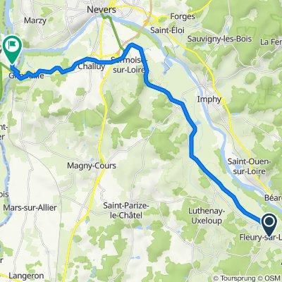 LA LOIRE :NEVERS LE GUETIN - FLEURY/ LOIRE = 30 KM