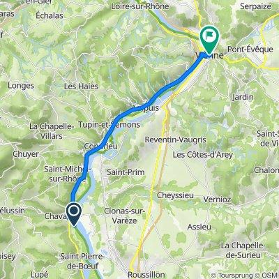 Route nach Place François Mitterrand, Vienne