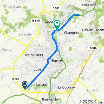 De D921, Fontenay-sur-Eure à 24–36 Rue de Longsault, Lèves