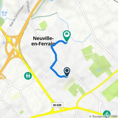 De 125 Rue du Bailly, Neuville-en-Ferrain à 24 Rue Jules Verne, Neuville-en-Ferrain