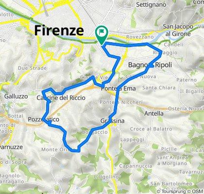 26.1 km giro Pozzolatico-Mezzomonte-Grassina