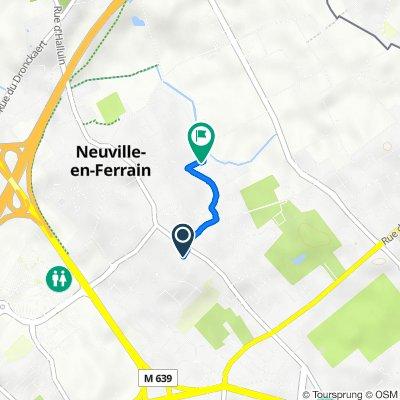 De 3bis Sentier Ottevaere, Neuville-en-Ferrain à 55–59 Rue Jules Verne, Neuville-en-Ferrain