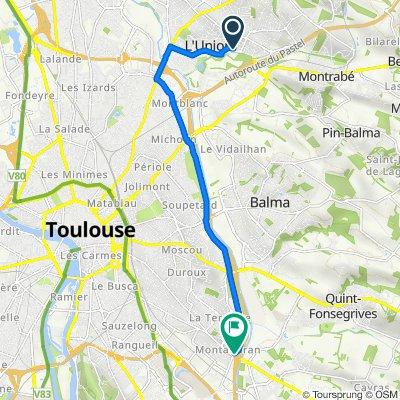 De 26 Rue de Grasse, L'Union à 2 Avenue Marcel Dassault, Toulouse