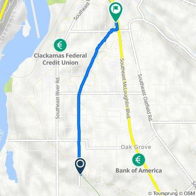 15250 SE Arista Dr, Portland to 12700 SE 27th Ave, Portland