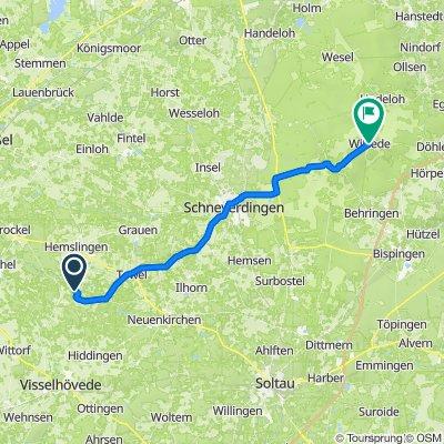 Moordorf 2–8, Visselhövede nach Wilsede 9B, Bispingen