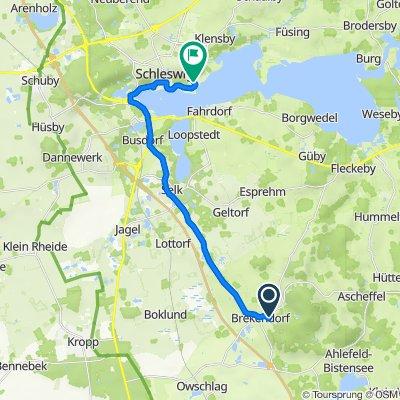 Wichelweg 11A, Brekendorf nach Fjordallee 1, Schleswig