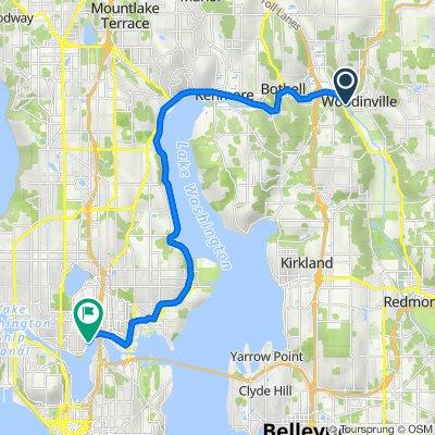 Sammamish River Trail, Woodinville to 2501 N Northlake Way, Seattle