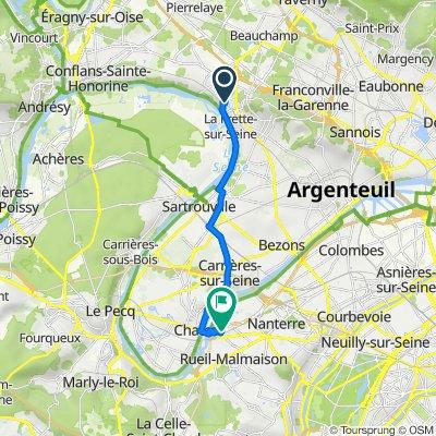De 38 Rue du Petit Pont, La Frette-sur-Seine à 1 Rue François Jacob, Rueil-Malmaison