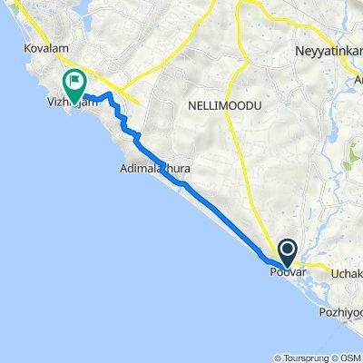 Poovar to Vizhinjam Harbour Road, കോവളം