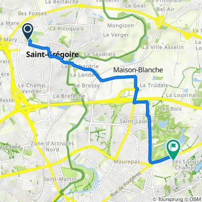 De 5 Allée du Stade, Saint-Grégoire à 280 Rue de Fougères, Rennes