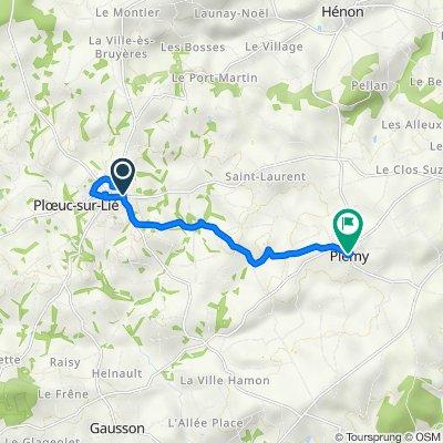 De 1–3B Rue de la Croix Bouvet, Plœuc-sur-Lié à 4B Place de l'Église, Plémy
