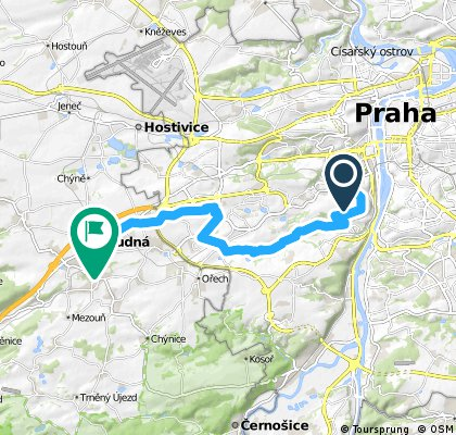Radlická (metro,ČSOB) - Prokopské údolí-Řeporyje-Stodůlky-Rudná