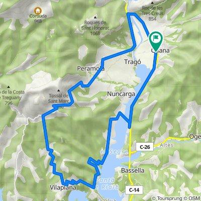 ABike2: Vuelta OLIANA-ALT DE PERAMOLA (por Vilaplana)