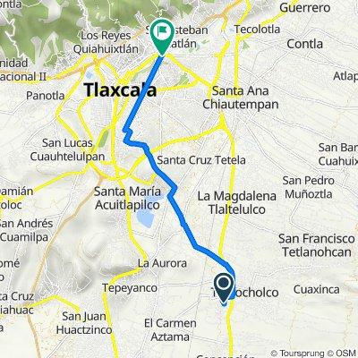 De Calle Ignacio Zaragoza, Teolocholco a Boulevard Revolución 11–15, Tlaxcala de Xicohténcatl