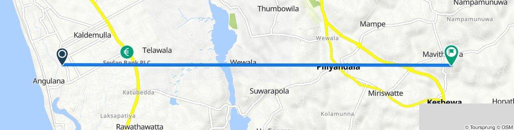 Route from Kaldemulla Road, Moratuwa