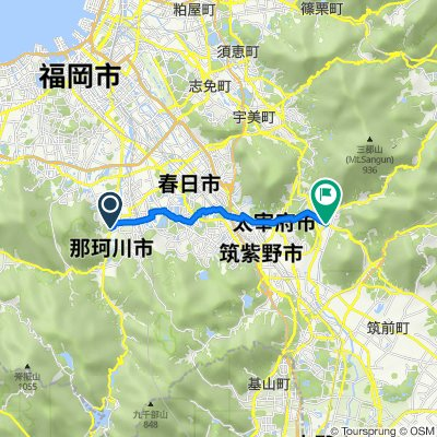 国道385号, Nakagawa, Chikushi-Gun to 2428-1, Yoshiki, Chikushino
