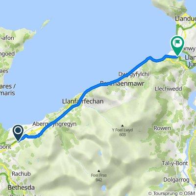 Aber Road, Bangor to Ty Maen, 38 Gwynt y Mor, Conwy