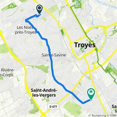De 2 Rue Georges Seurat, Troyes à 1 Rue Georges Wauters, Troyes
