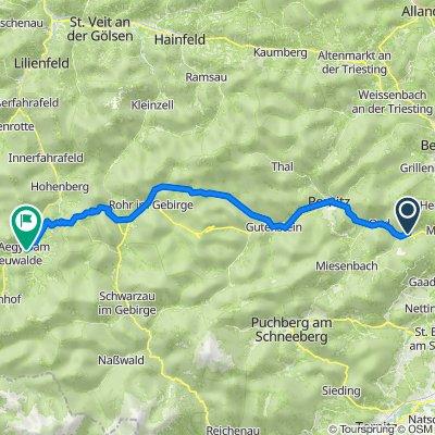 Waldegg 123, Waldegg an der Piesting do Seebachleiten 1, Sankt Aegyd am Neuwalde