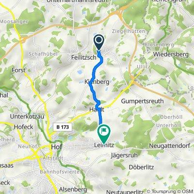 Regnitzstraße 11, Trogen nach Haidter Straße 11, Hof