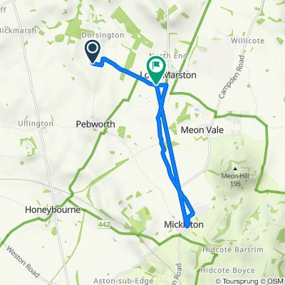 Crabtree Farm, Dorsington Road, Stratford-Upon-Avon to Butterfly Cottage, Dorsington Road, Stratford-Upon-Avon