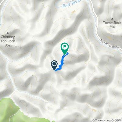 Chimney Top Rock Road, Pine Ridge to Pine Ridge