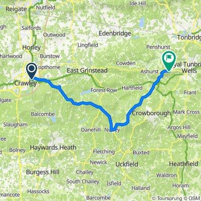 Route to Langton Road, Langton Green, Tunbridge Wells