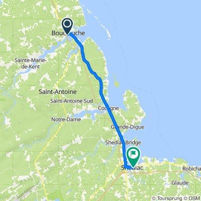 Itinéraire à partir de 104 Boul Irving, Bouctouche
