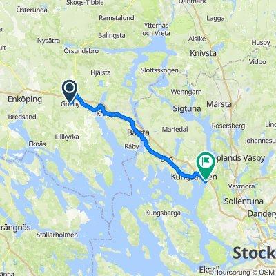 Kärrvägen 6, Grillby to Af Ugglas väg 12, Järfälla