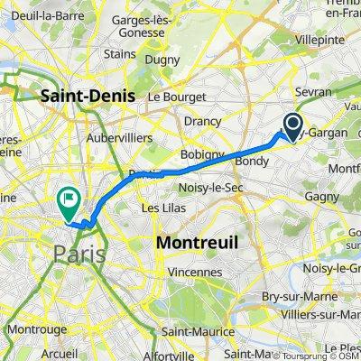 De 17 Avenue Quesnay, Livry-Gargan à 4 Cité Bergère, Paris