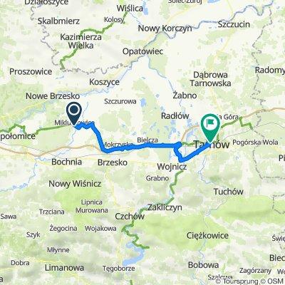 Mikluszowice 52, Drwinia do Adama Mickiewicza 2, Tarnów