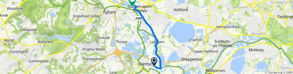 Oldbull House, 36 Bridge Road, Chertsey to 1 Island Close, Staines-Upon-Thames