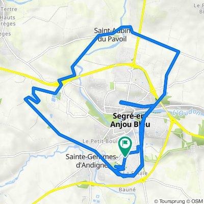 De Rue du Flucas 20, Segré-en-Anjou Bleu à Rue du Flucas 20, Segré-en-Anjou Bleu