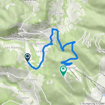 De 3430 Route des Envers, Les Adrets à Impasse de l'Ardoisière, Les Adrets
