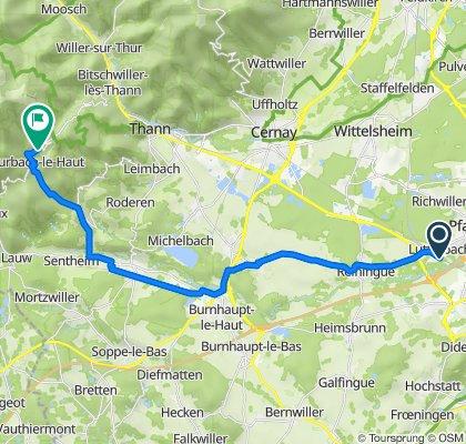 De 18 Dollfus Mieg Matten, Lutterbach à 38 Route Joffre, Bourbach-le-Haut