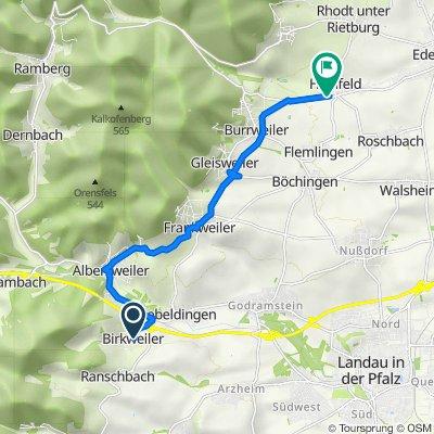 Weinstraße 43, Birkweiler nach Weinstraße, Hainfeld