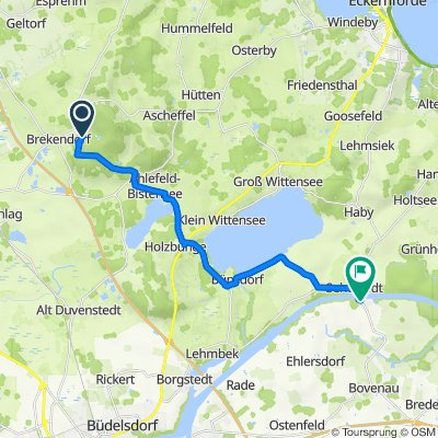 Route nach Alte Dorfstraße 1, Sehestedt
