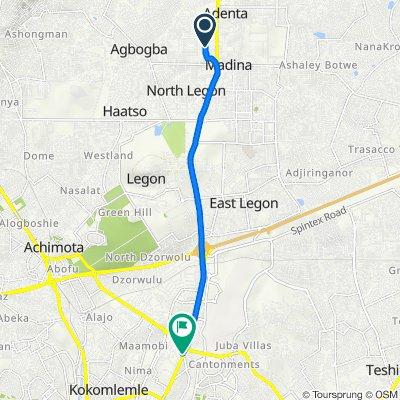 Nyanyo Street 32 to 37 hospital...Church Lane, Accra
