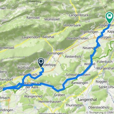 Oltenstrasse 23A, Oberbipp nach Chänzeliweg, Hägendorf