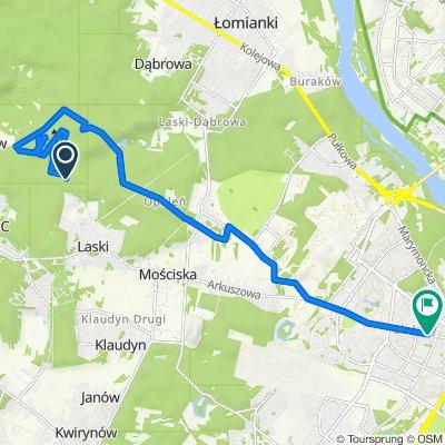 Itinéraire vers Stefana Żeromskiego 21, Varsovie