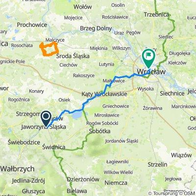 Route to Romana Dmowskiego 13, Wrocław