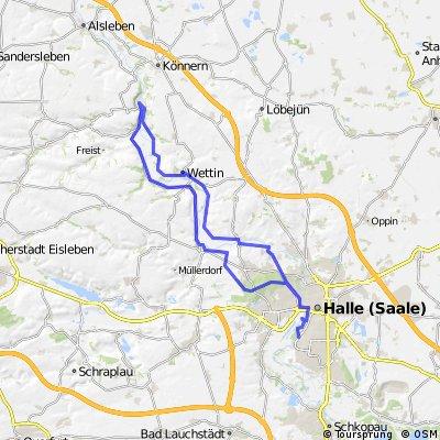 Saaletour nach Rothenburg und zurück
