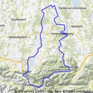 Planseerunde durchs Allgäu und die Alpen